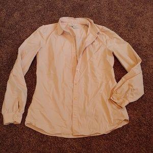 Ann Taylor LOFT pinkish cream button down blouse